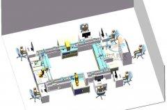 环形工业4.0柔性制造实训设备
