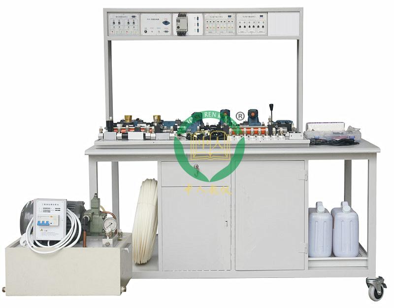 工业型液压实训装置,液压传动教学设备,plc控制液压传动实训装置